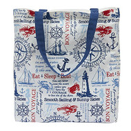 Maritime Lighthouse Printed Tote Bag