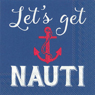 Lets Get Nauti Cocktail Napkin