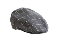 Baby Boys Dark Gray Check Golfers Hat (0-12 months)