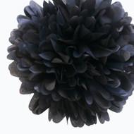"""Black 14"""" Party Tissue Pom Pom"""