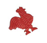 DII Red Rooster Napkin Rings - Set of 4