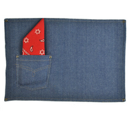 Denim Jeans Placemats - Set of 4