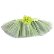 Green & Purple Tutu with Flower