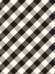 Plaid Buffalo Check/Black Dot Gift Wrap