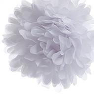 """White 6"""" Party Tissue Pom Pom, Set of 8"""