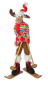"21"" Posable Skiing Moose"