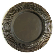 Bronze Glass Plate Chargers - Set of 4