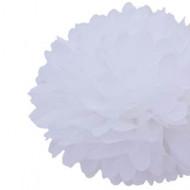 """White 14"""" Party Tissue Pom Pom, Set of 4"""
