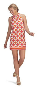 Mud Pie Natalie Large Bow Tie Dress - Orange