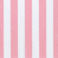 Big Stripes Soft Pink Luncheon Napkin