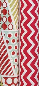Christmas Trees & Chevron Gift Wrap Rolls