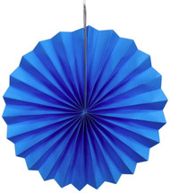 Paper Pinwheel Decoration Blue 12 inch