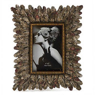 "11"" Vintage Frame with Feathers"