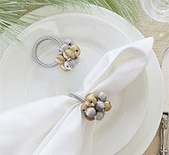 Gold & Silver Balls Napkin Ring - Set of 4
