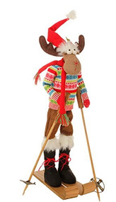 "29"" Posable Skiing Moose 1"