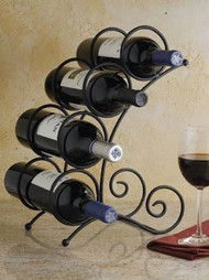 Curve Wrought Iron Wine Rack