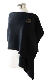 Convertible Black Shrug with Button