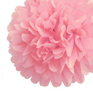 "Baby Pink 14"" Party Tissue Pom Pom, Set of 4"
