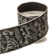 "Chalkboard Message Wired Ribbon - 4"" x 5 yds"