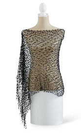Black Crocheted Cape