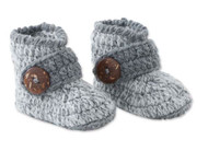 Baby Boys Handmade Gray Knit Booties