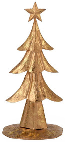 Boston International Gold Foil Decorative Tree, 12-Inch