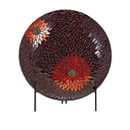 Autumn Flower Mosaic Charger & Stand