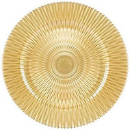 Gold Genesis Glass Plate Chargers - Set of 6