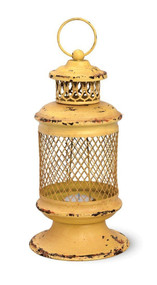 Yellow Iron Basket Lantern