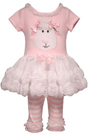 Baby Girls Lamb Tutu Set (0-3 months)
