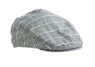 Baby Boys Light Gray Check Golfers Hat