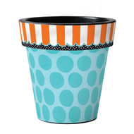 "Aqua Dots 18"" Art Planter"
