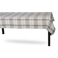 Sienna Plaid Tablecloth