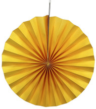 Paper Pinwheel Decoration Yellow 12 inch