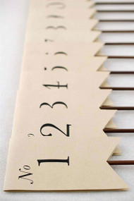 Antiqued Table Number Flags - Set of 1-12