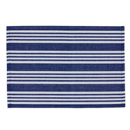 Anchor Blue Beach Stripe Placemats - Set of 4