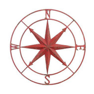 "30"" Red Compass Star"