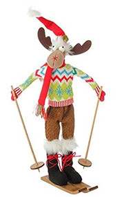 "21"" Posable Skiing Moose 1"