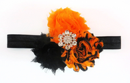 Baby Girls Shabby Chic Halloween Headband 1