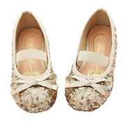 Little Girls Sequin Ballet Flats (Pink, 13)
