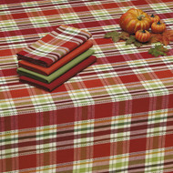 "DII Thankful Plaid Tablecloth 84"" x 60"""