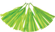 12 Inch Paper Tassels, Lime Green, Set of 8