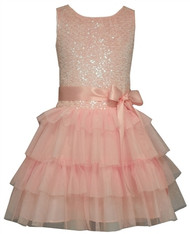 Girls Pink Dropwaist Tiered Birthday Dress (6X)