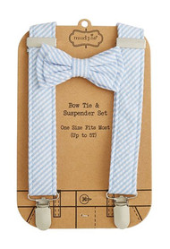 Mud Pie Seersucker Bow Tie & Suspender Set