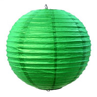 "Kelly Green 14"" Paper Lanterns - Set of 2"