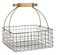 "12"" Wire Basket with Rolling Pin Handle"