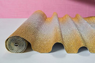 Ombre Gold/Silver Italian Crepe Paper Roll & Table Runner