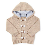 Baby Boys Hooded Cable Knit Toggle Sweater 12-18 months