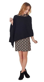 Mud Pie Kyle Black Poncho