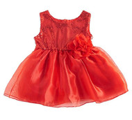 Baby Girls Red Sequin Dress (6-12, Red)